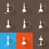 Hookah icon set — Stock Vector