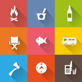 Fire services icon set — Stock Vector