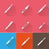 Writing Tools icons set — Stock Vector
