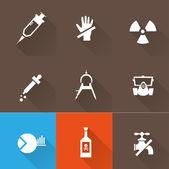 Science icon Set — Stock Vector