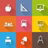 School icons — Wektor stockowy