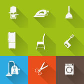 Household icon set — Stockvektor