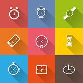 Clock icons set — Stock Vector