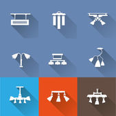 Lamp icons set — Vecteur