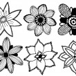 Set of vector flowers  — Grafika wektorowa