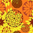Abstract floral seamless background — Imagen vectorial