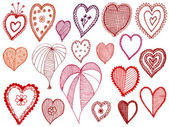Set of vector hearts — Stock Vector