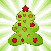 Vector christmas tree background — Stock Vector