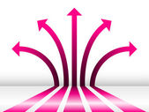 Abstract pink arrows — Stock Vector