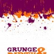 Abstract purple and orange grunge background  — Stock Vector