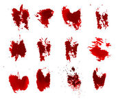 Red ink grunge splats — Stock Vector