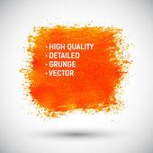 Fond abstrait grunge orange — Vecteur
