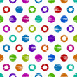 Colorful grunge circle seamless background — Stock Vector