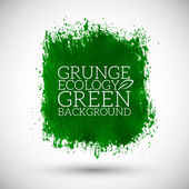 Abstract green eco organic grunge background — Stock Vector