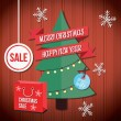 Vector Christmas Sale Illustration — Stock Vector