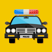 Vector Police Car Icon — Stock Vector