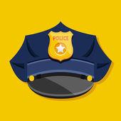 Wektor policji kapelusz — Wektor stockowy