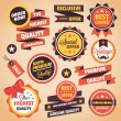 Set of Vector Vintage Badges Stickers Banners and Labels  — Image vectorielle