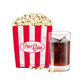 Popcorn And Soda — Vector de stock