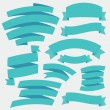 Vector Blue Ribbons. Set 2. — Stock Vector
