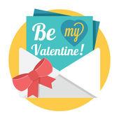 "Vector ""Be My Valentine"" Illustration — Stock Vector"