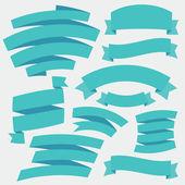Vector de cintas azules. set 2. — Vector de stock