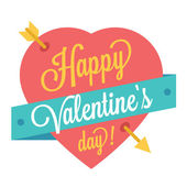 Vector Happy Valentine's Day Trendy Illustration — Stock Vector