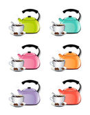 Cup Of Coffee And Kettle Set — Vector de stock