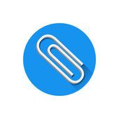 Vector Paper Clip Icon — Stock Vector
