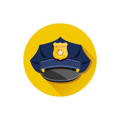 Vector Police Hat — Stock Vector