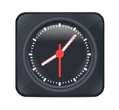 Vector Black Desktop Clock — Stock Vector