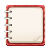 Vector Cartoon Notepad — Stock Vector