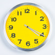 Yellow and Silver Wall Clock — Stock Photo