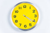Yellow and Silver Wall Clock — Stockfoto