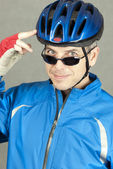 Confident Cyclist 2 — Stock Photo