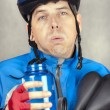 Stock Photo: Exhausted Cyclist