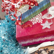 Stock Photo: Christmas Gift Wrapping