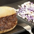 Pulled Pork Sandwich with Coleslaw — Stock Photo