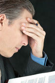 Businessman Stresses Over Document — Stock Photo