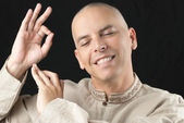 Buddhist Gestures Dharmachakra — Stock Photo
