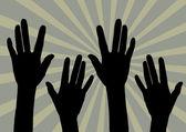 Praise Hand — Stock Vector