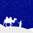 Wisemen silhouette --Facebook cover — Stock Vector