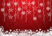 Röd jul bakgrund — Stockvektor