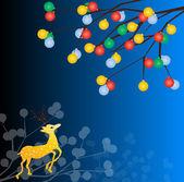 Christmas deers — Stock Vector
