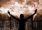 Pray for the world — Foto de Stock