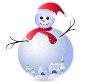 Snowman — Vector de stock