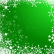 Green christmas background — Stock Vector