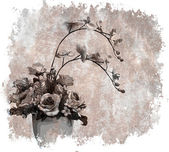 Vintage floral background — Photo