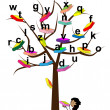Vector de stock : Tree of Knowledge