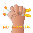 No smoking — Stockvektor